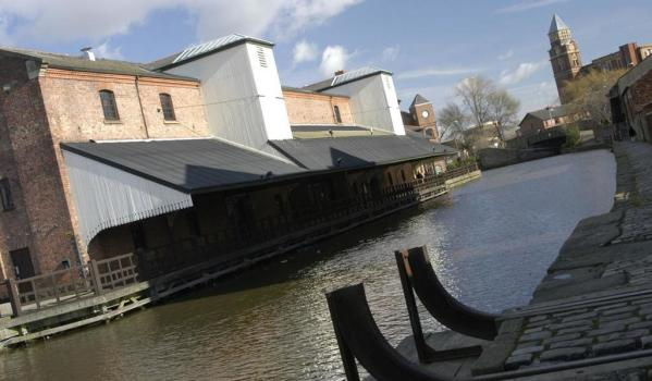 Wigan pier on a sunny day
