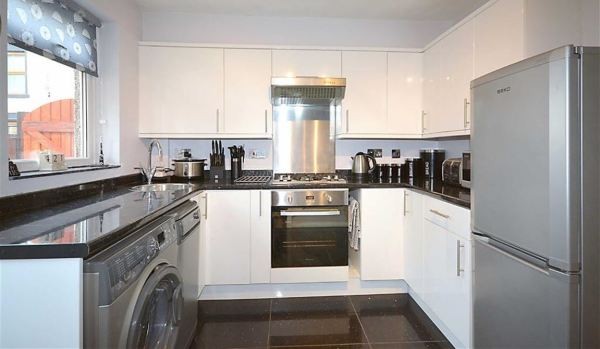 Modern kitchen in a house in Rishton