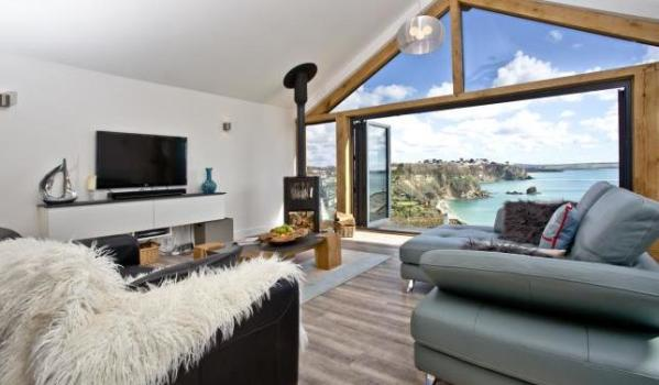 Lounge with sea view in St. Austell