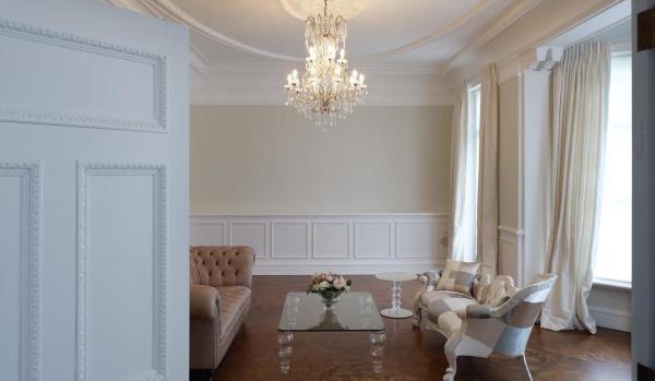 Elegant reception room.