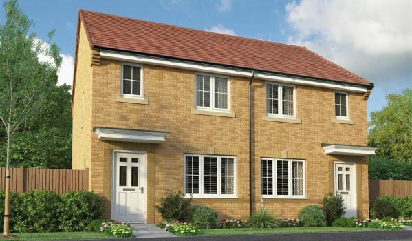 New-build homes in Middlesbrough.