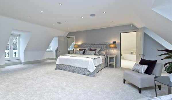Master bedroom of a mansion in Kingston Upon Thames