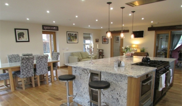 Ktichen-diner in a new-build home in Thurstonland