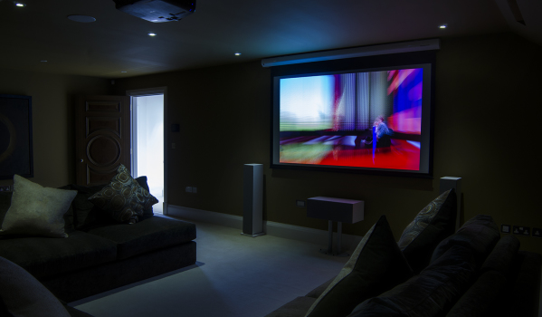 Home cinema of a mansion in Mill Hill