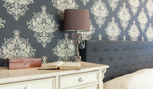 Use patterned wallpaper.