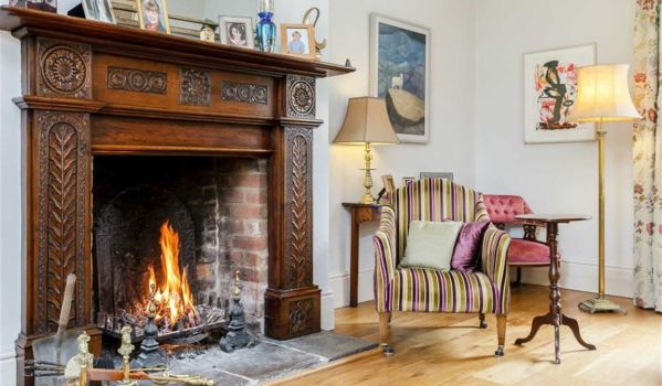 Fireplace in a Grade II listed former rectory
