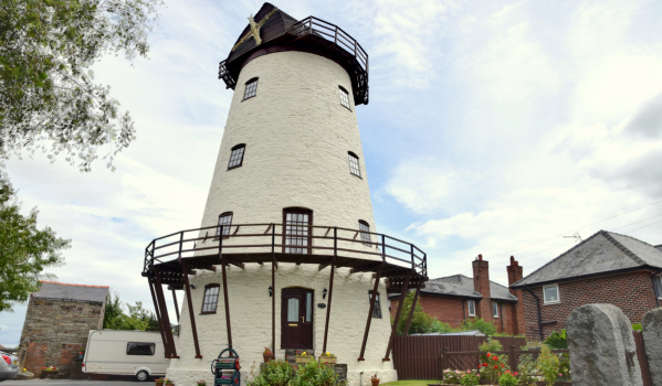 Converted windmill in Holywell