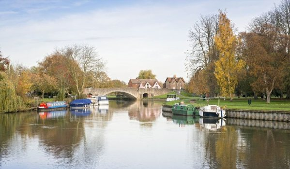 A river in Wallingford, Oxfordshire.