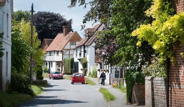 Picturesque village in Oxfordshire