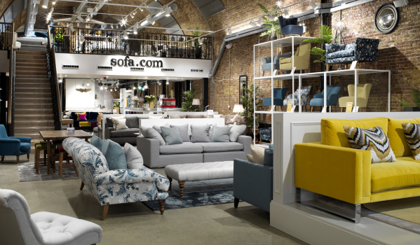 sofa.coms' showroom in Bankside, London