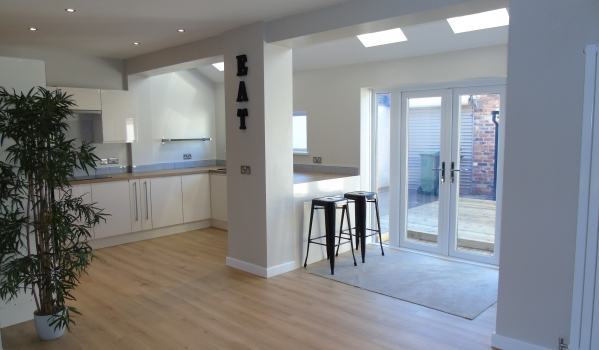 Modern kitchen-diner in a house in Ashington