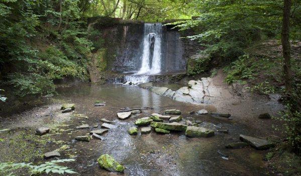 Waterfall at Wepre Park, Flintshire