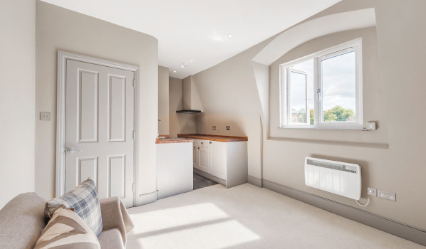 Open plan kitchen in Dancer Road, Fulham, London