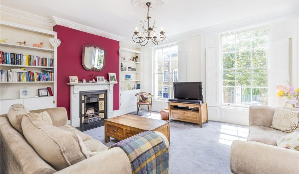 Living room of a maisonette in Noel Road, Islington, London