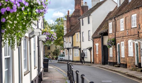 Quaint street in Buckinghamshire