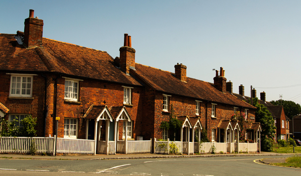 Cottages in the old town in Beaconsield, Buckinghamshire, England