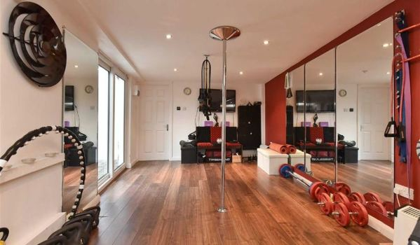 Home gym for pole dancing