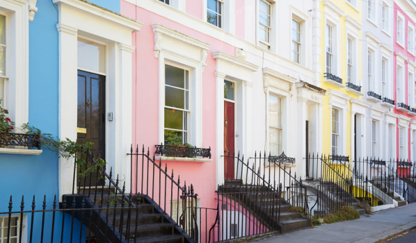 Colourful homes in West London