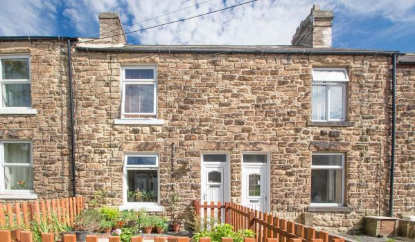 Stone terraced house in Consett