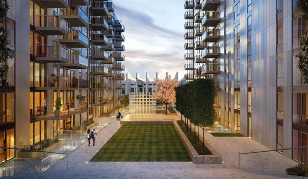 New-build homes in Wembley.