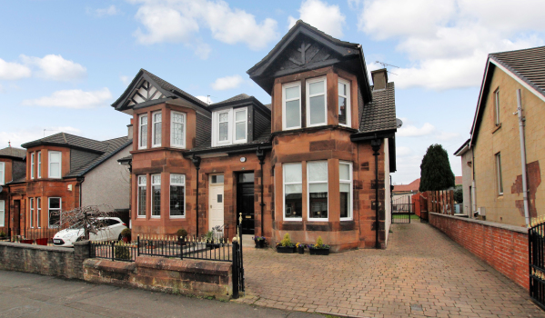 Semi-detached period house in Motherwell