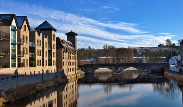 Riverside buildings in Kendal