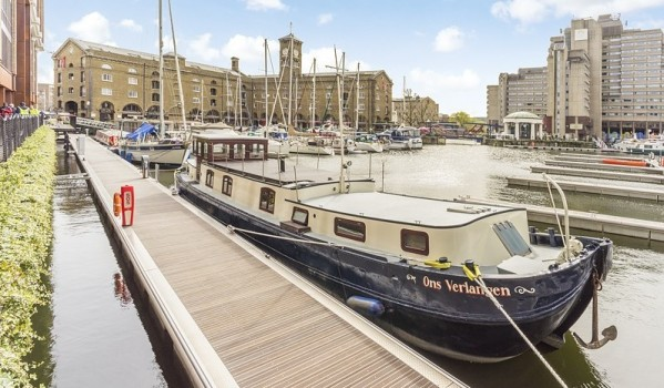 Barge in St Katharine's Docks
