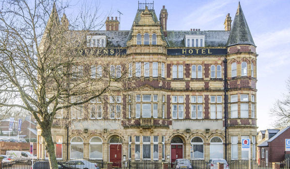 Queen's Hotel converted into flats in Pontefract