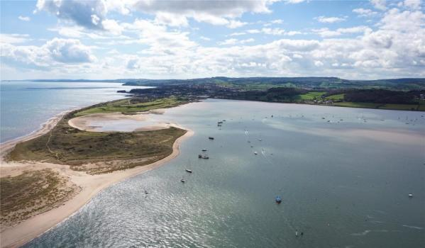 Aerial view of the River Exe Estuary