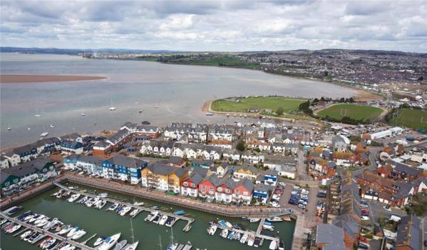 Aerial photo of Exmouth