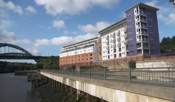 Modern flats in Sunderland