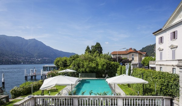 Lake Como penthouse apartment swimming pool