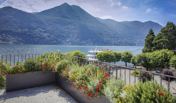 Lake Como penthouse apartment balcony
