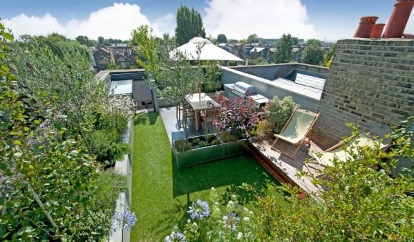 Rooftop terrace in west London