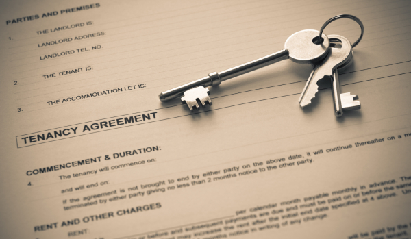 Tenancy agreement and keys