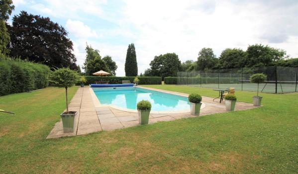 Communal pool for flats in Surrey