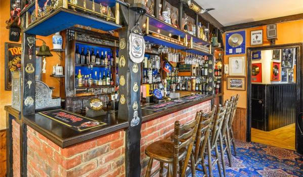 The Horse and Cart pub in Steve Harris' Essex home