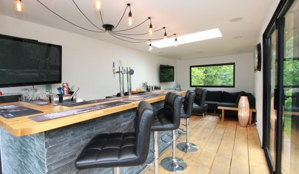 Modern bar in a family home in Hockley, Essex