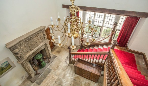 Grand stairs in East Barsham Manor House