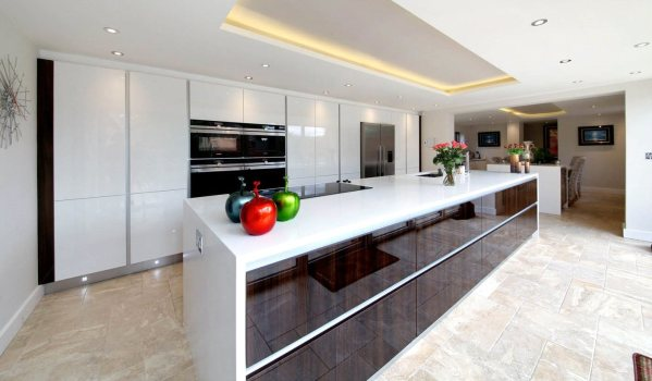 Modern kitchen in Chobham country house