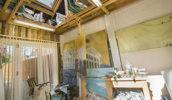 Garage converted into artists studio