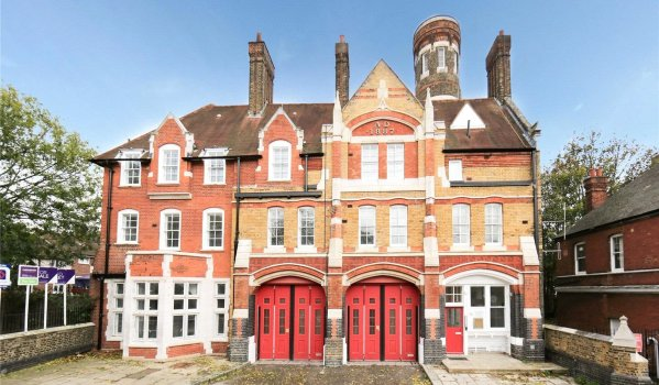 One-bedroom flat in a converted fire station in Woolwich
