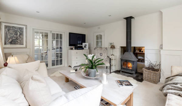 Wood-burner in a four-bedroom detached house in Braco