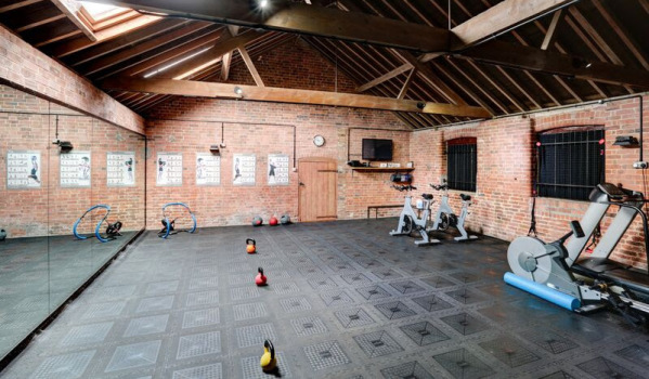 Gym in a converted barn in Tilney All Saints
