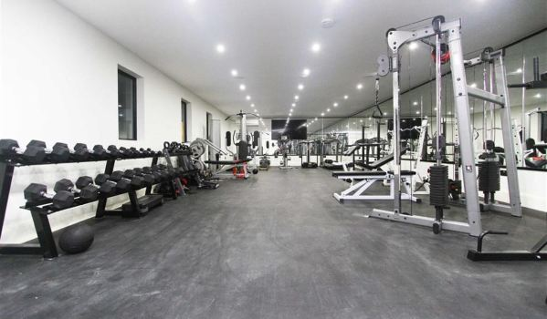 Huge modern home gym in Middleton St. George