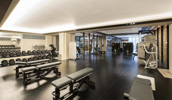 Communal gym in luxury Nine Elms flats
