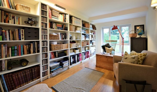 Library in a four-bedroom detached house in Beighton
