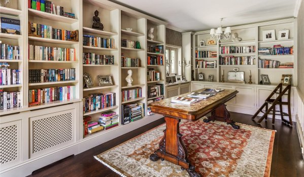 Stylish library in a five-bedroom detached house in Guildford