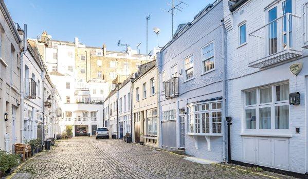Row of mews houses in London