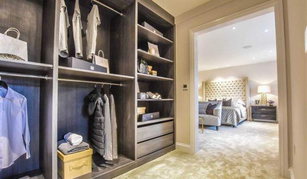 An uncluttered wardrobe